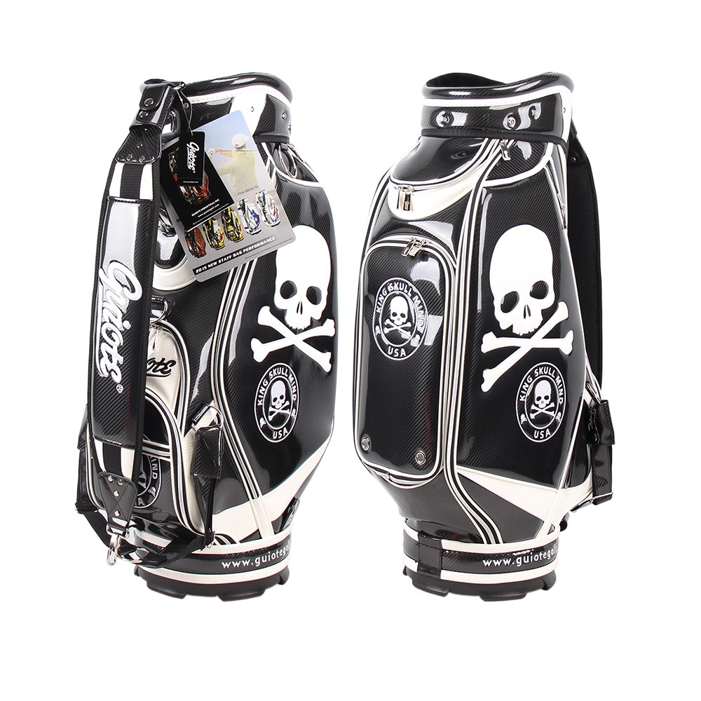 staff-bags-pro-tour-caddy-golf-club-bag-with-skull-graphic-front-rear-views