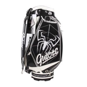 Professional Golf Tour Staff Bag Black Spider w/ Rain Hood