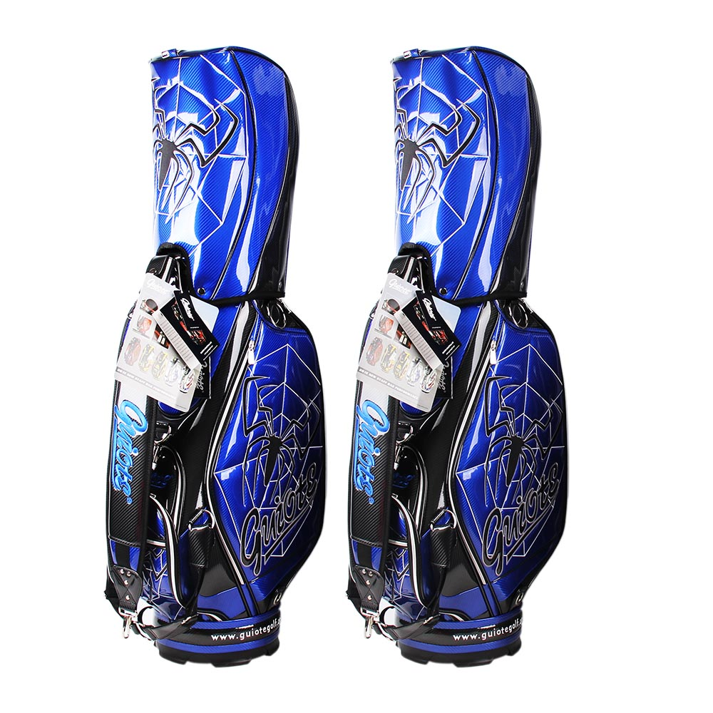 staff-bags-pro-tour-golf-club-caddy-style-sport-bag-with-blue-spider-graphic-duo-bags-head-covered