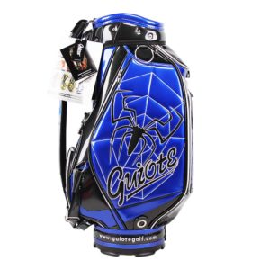 Professional Golf Tour Staff Bag Blue Spider w/ Rain Hood