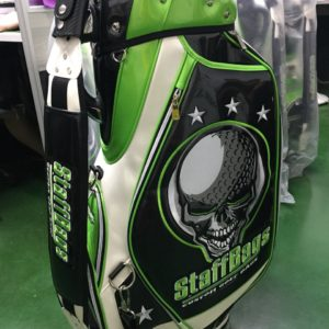 Green Skull Golf Tour Staff Bag